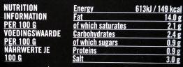 Olivio Chili - Nutrition facts - de