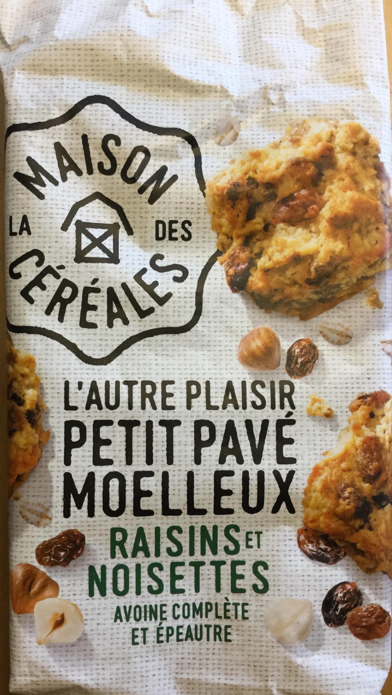 L'autre Plaisir Petit Pavé moelleux raisins et noisettes - Produit