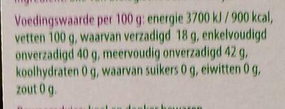 Sesam olie - Nutrition facts - nl