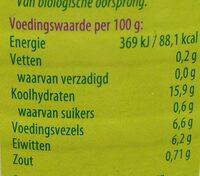 Bruine bonen - Nutrition facts - nl