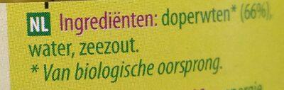 Doperwten - Ingrédients