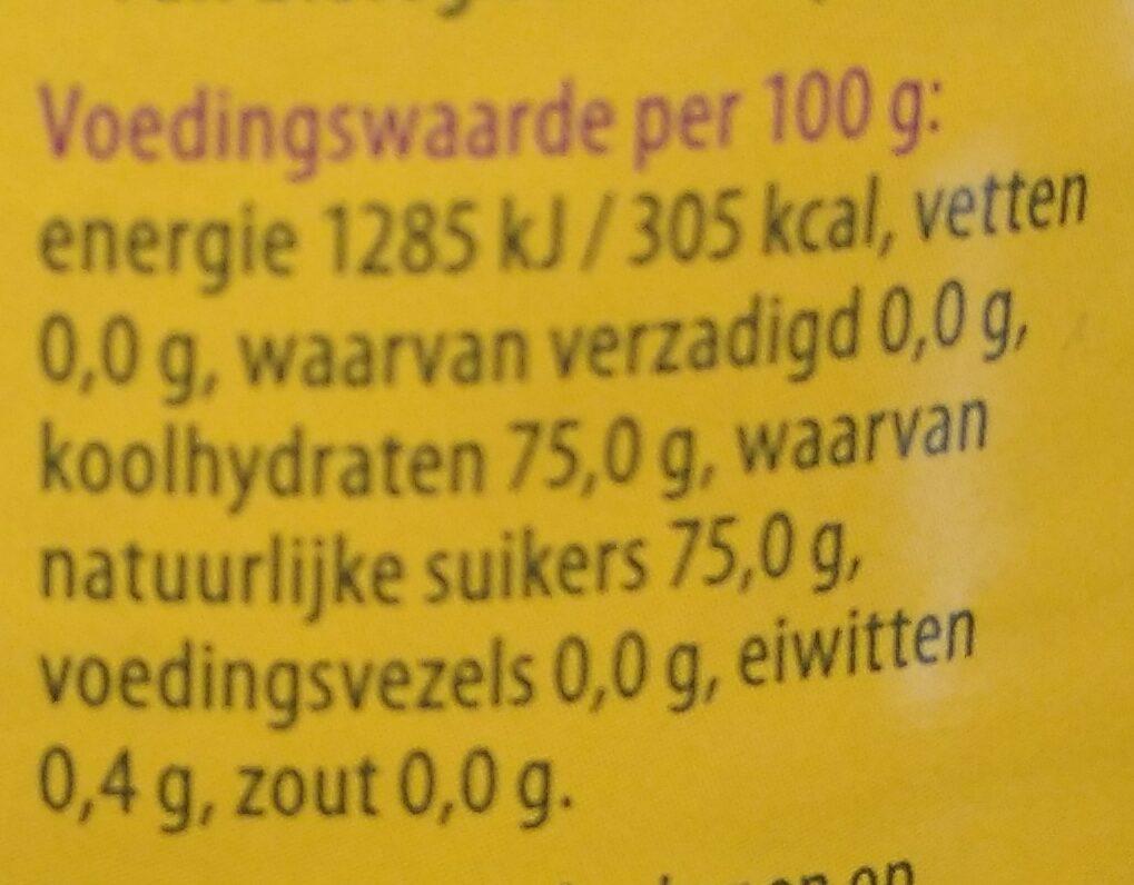 Bloemenhoning crème - Voedingswaarden