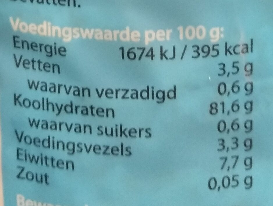 Rijstwafels ongezouten - Nutrition facts - nl