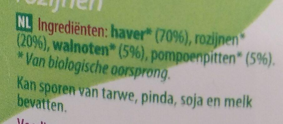 Muesli 4 granen - Ingredients