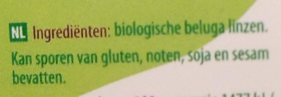 Beluga linzen - Ingredients - nl