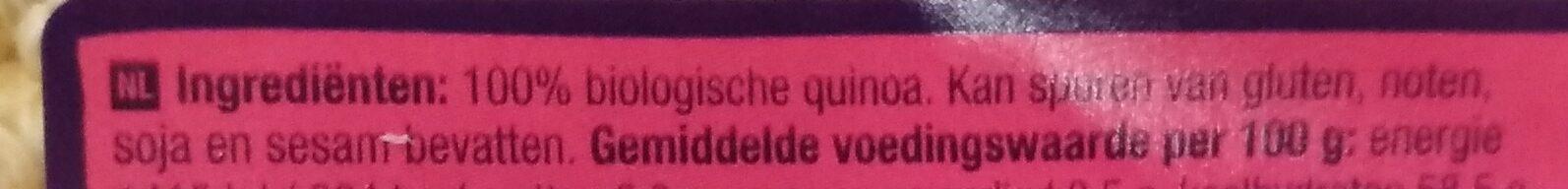 Gepofte Quinoa ongezoet - Ingrediënten - nl