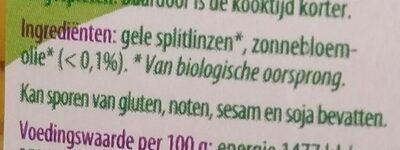Gele splitlinzen - Ingredients - nl