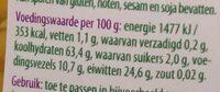 Gele splitlinzen - Nutrition facts - nl