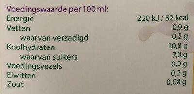 Rijstdrink naturel - Voedingswaarden - nl