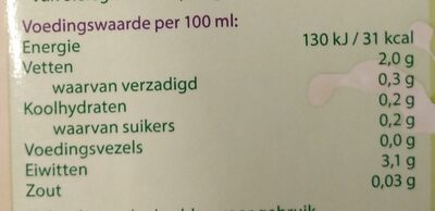 Sojadrink naturel - Voedingswaarden