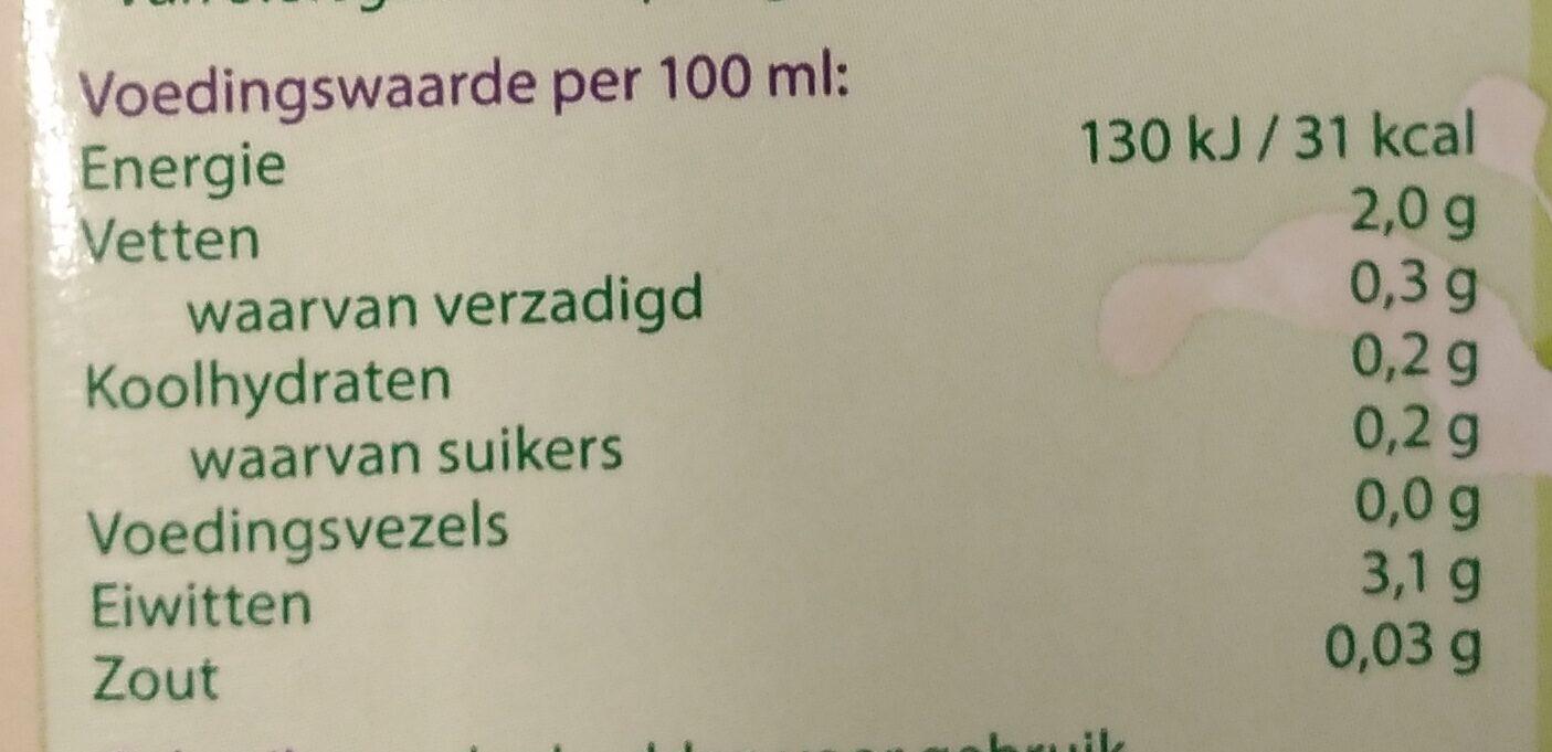 Sojadrink naturel - Nutrition facts - nl