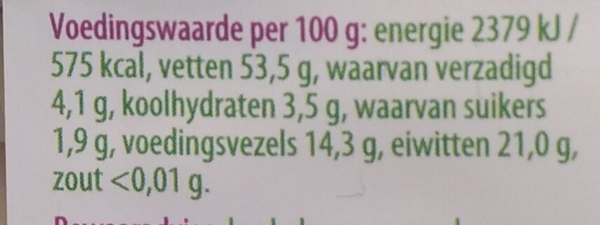 Amandelen geblancheerd - Nutrition facts - nl