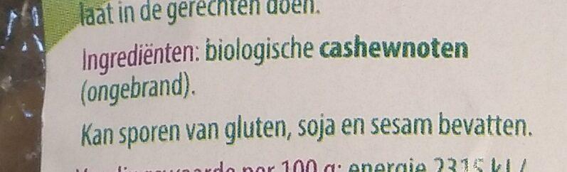 Cashewnoten - Ingredients