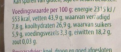 Cashewnoten - Nutrition facts