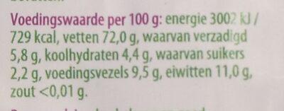 Paranoten - Nutrition facts - nl