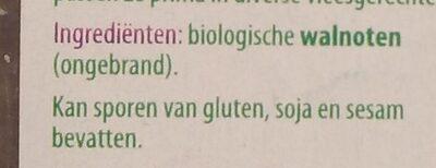 Walnoten - Ingrediënten