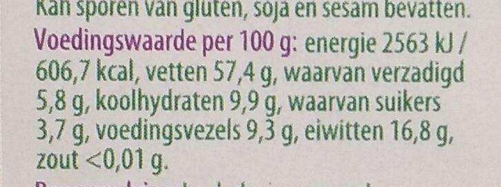 Gemengde noten - Nutrition facts - nl
