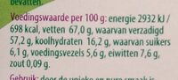 Kokoschips - Informations nutritionnelles - nl