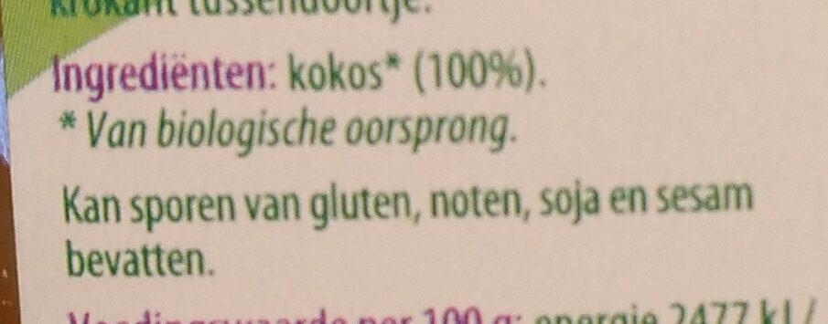 Kokoschips geroosterd - Ingrédients - nl