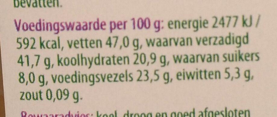 Kokoschips geroosterd - Informations nutritionnelles - nl