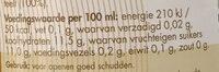 Appelsap - Nutrition facts - nl