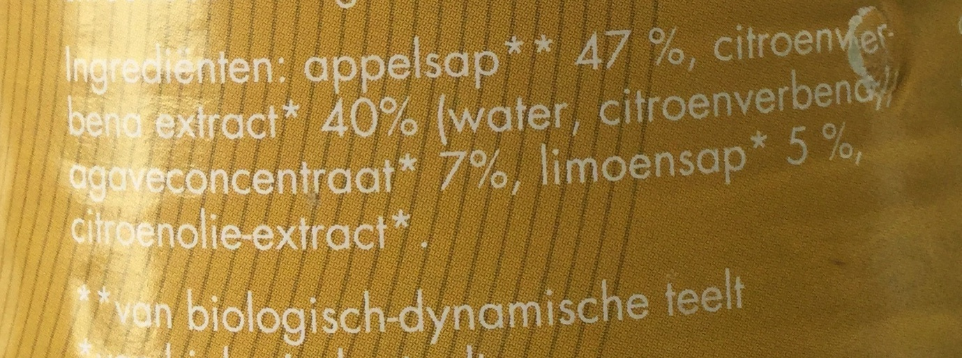 appel-limoendrank - Ingredients
