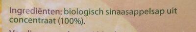 Sinaasapplesap - Ingredients - nl