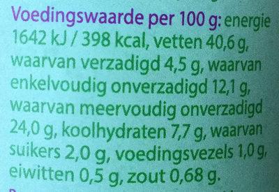 Mayo veganistisch - Voedingswaarden - nl