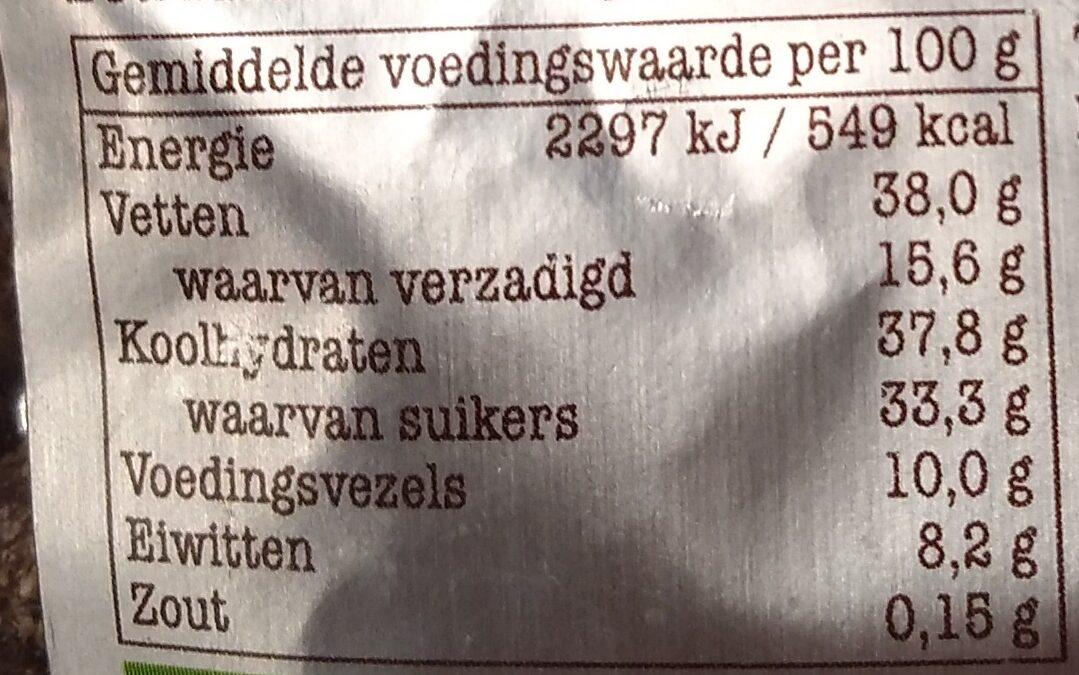 Chocolade amandelen puur met kokos - Voedingswaarden - nl