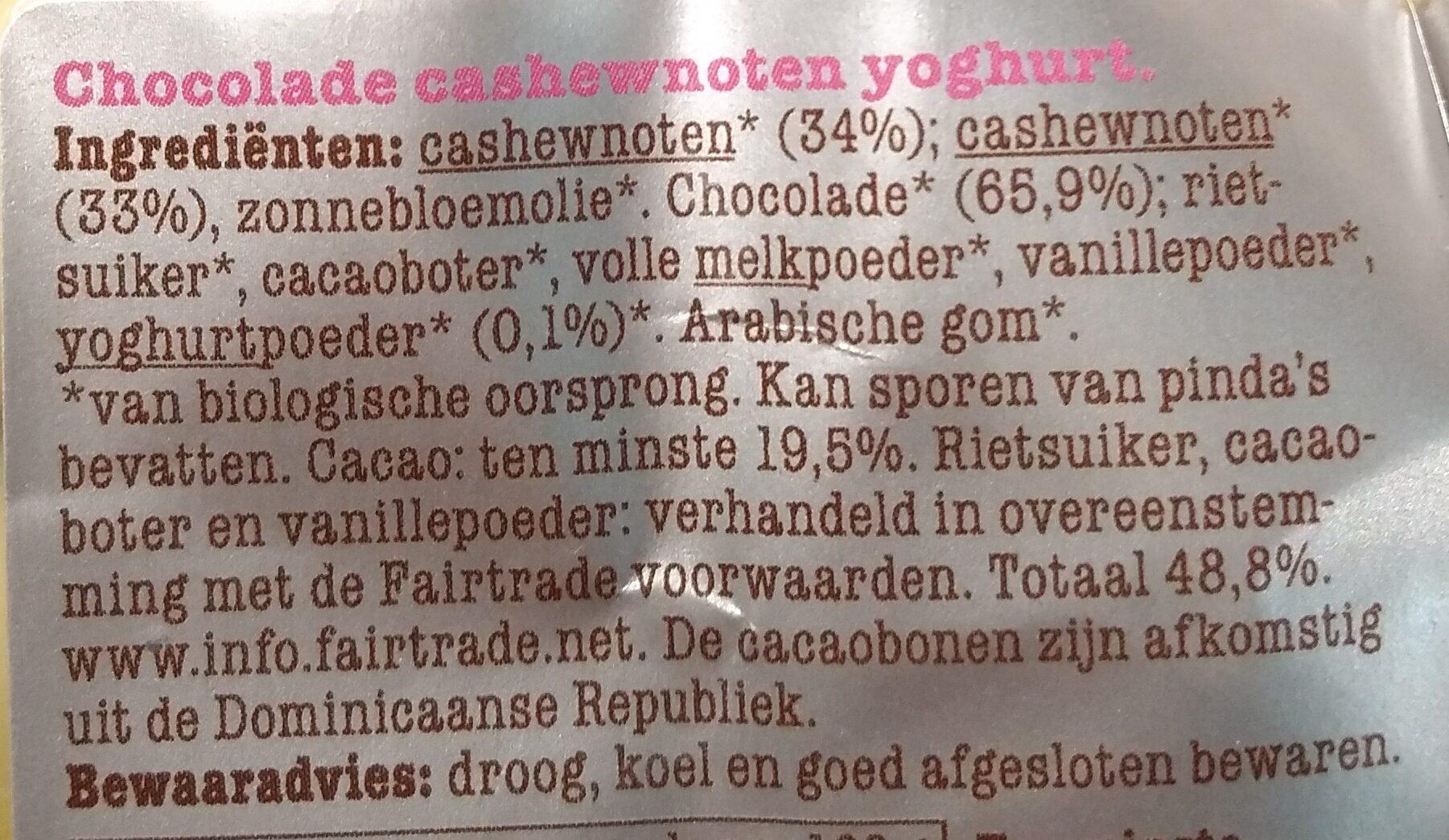 Chocolade cashewnoten - Ingrediënten