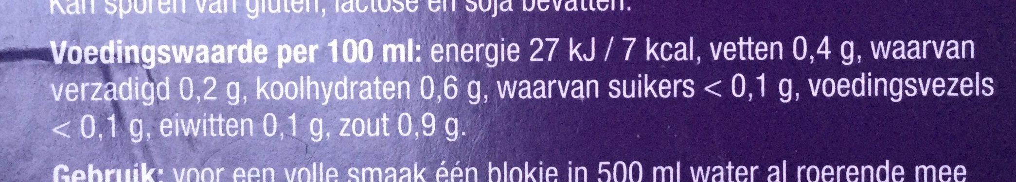 Heldere kippenbouillon - Voedingswaarden - nl