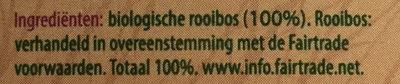 Rooibos - Ingredients