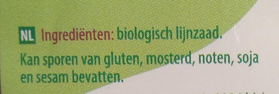Lijnzaad - Ingrediënten