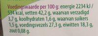 Lijnzaad - Voedingswaarden