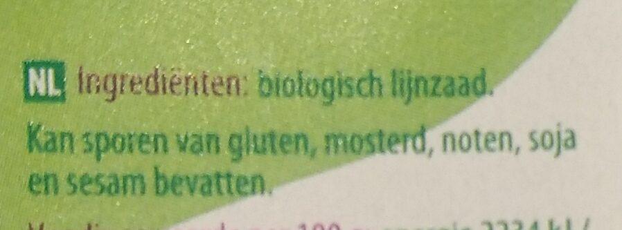 Lijnzaad - Ingredients - nl