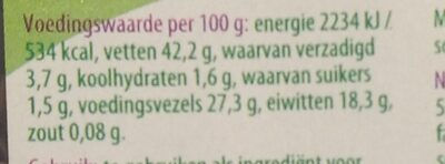 Lijnzaad - Nutrition facts - nl
