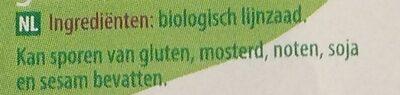 Lijnzaad gebroken - Ingredients - nl