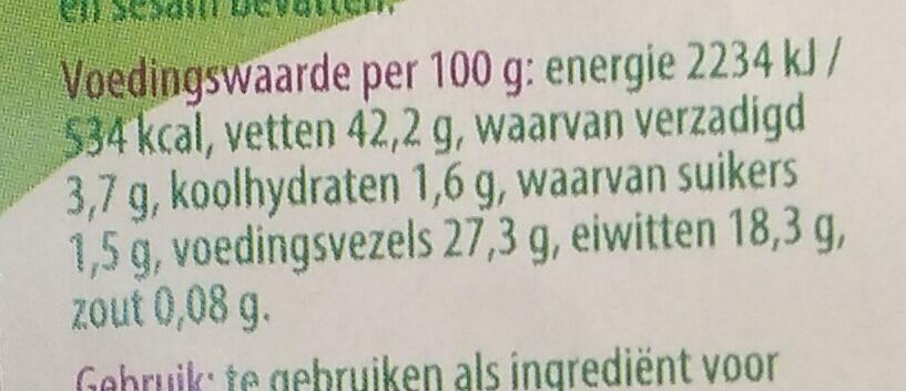 Lijnzaad gebroken - Nutrition facts - nl