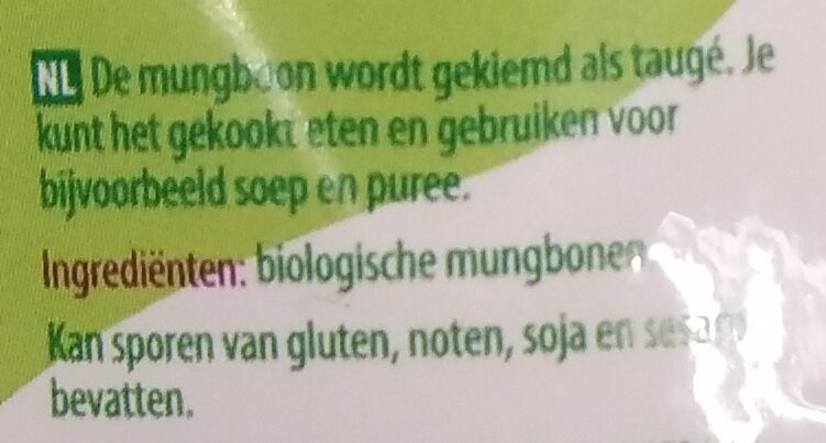 Mungbonen - Ingredients - nl