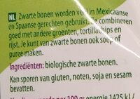 Zwarte bonen - Ingredients - nl