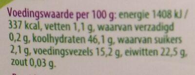 Kidneybonen - Nutrition facts - nl