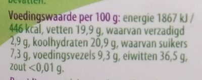 Soja bonen - Informations nutritionnelles - nl