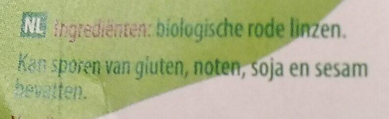 Rode linzen - Ingredients - nl