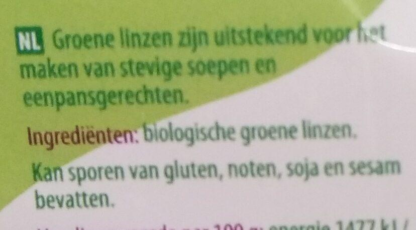 Groene linzen - Ingrédients - nl