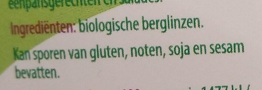 Berglinzen - Ingredients - nl