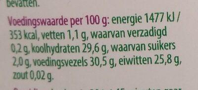 Berglinzen - Nutrition facts - nl