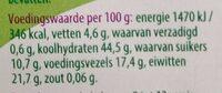 Kikkererwten - Nutrition facts - nl