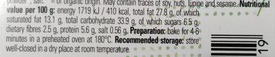 Croissants - Nutrition facts - en