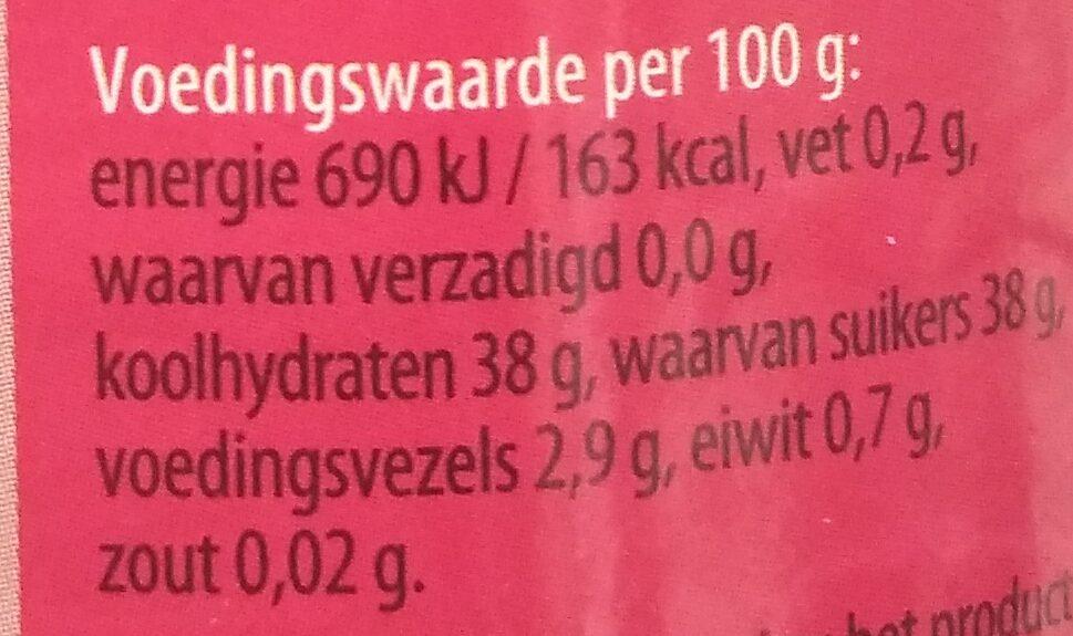 Fruitbeleg Aardbeien - Informations nutritionnelles - nl