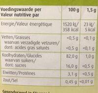 Bambu - Voedingswaarden
